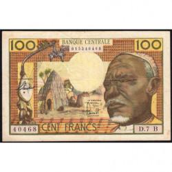Centrafrique - Afrique Equatoriale - Pick 3b - 100 francs - Série D.7 - 1963 - Etat : TTB