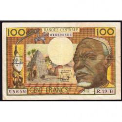 Centrafrique - Afrique Equatoriale - Pick 3b - 100 francs - Série R.19 - 1963 - Etat : TTB