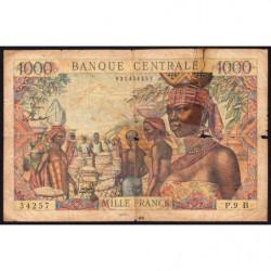 Centrafrique - Afrique Equatoriale - Pick 5f - 1'000 francs - Série P.9 - 1963 - Etat : AB