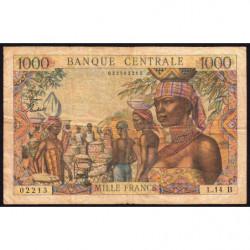Centrafrique - Afrique Equatoriale - Pick 5f - 1'000 francs - Série L.14 - 1963 - Etat : TB