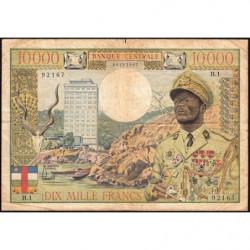 Centrafrique - Afrique Equatoriale - Pick 7 - 10'000 francs - Série B.1 - 1968 - Etat : TB