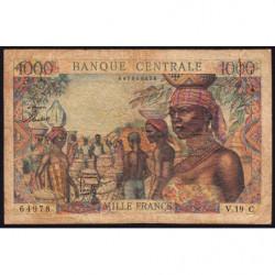 Congo (Brazzaville) - Afrique Equatoriale - Pick 5g - 1'000 francs - 1963 - Etat : B+