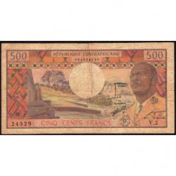 Centrafrique - Pick 1 - 500 francs - Série V.2 - 1974 - Etat : B