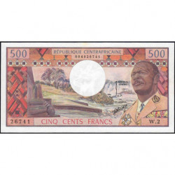 Centrafrique - Pick 1 - 500 francs - Série W.2 - 1974 - Etat : SPL