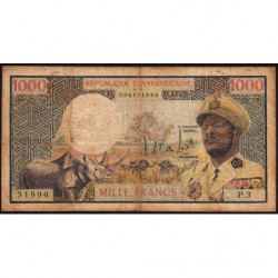 Centrafrique - Pick 2 - 1'000 francs - 1974 - Etat : B