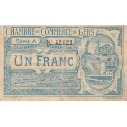 Auch (Gers) - Pirot 15-3 - 1 franc - Série A - 18/11/1914 - Etat : TB-