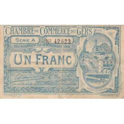 Auch (Gers) - Pirot 15-3 - Série A - 1 franc - 1914 - Etat : TB-