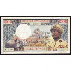 Centrafrique - Pick 2 - 1'000 francs - Série B.6 - 1974 - Etat : TB