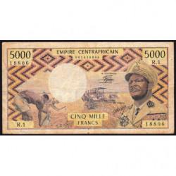 Centrafrique - Pick 7 - 5'000 francs - Série R.1 - 1978 - Etat : TB-