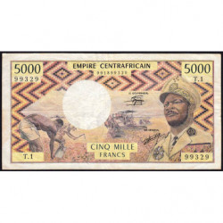 Centrafrique - Pick 7 - 5'000 francs - Série T.1 - 1978 - Etat : TB+