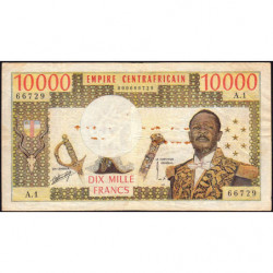 Centrafrique - Pick 8 - 10'000 francs - Série A.1 - 1978 - Etat : TB-