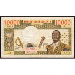 Centrafrique - Pick 8 - 10'000 francs - 1978 - Etat : TB