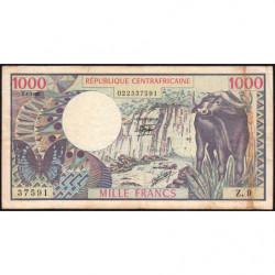 Centrafrique - Pick 10_1 - 1'000 francs - Série Z.9 - 01/01/1980 - Etat : TTB-
