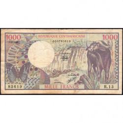 Centrafrique - Pick 10_2 - 1'000 francs - Série H.13 - 01/07/1980 - Etat : TB