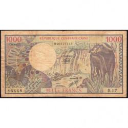 Centrafrique - Pick 10_4 - 1'000 francs - Série D.17 - 01/01/1982 - Etat : B+