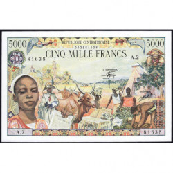 Centrafrique - Pick 11 - 5'000 francs - 01/01/1980 - Etat : NEUF