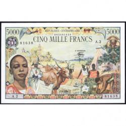 Centrafrique - Pick 11 - 5'000 francs - Série A.2 - 01/01/1980 - Etat : NEUF