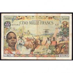 Centrafrique - Pick 11 - 5'000 francs - Série A.3 - 01/01/1980 - Etat : TTB-
