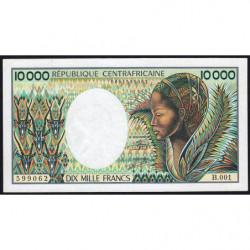 Centrafrique - Pick 13_2 - 10'000 francs - Série B.001 - 1983 - Etat : SUP+