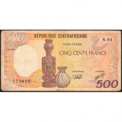 Centrafrique - Pick 14e - 500 francs - Série M.04 - 01/01/1991 - Etat : TB