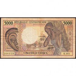 Centrafrique - Pick 12a - 5'000 francs - Série K.001 - 1984 - Etat : TB-