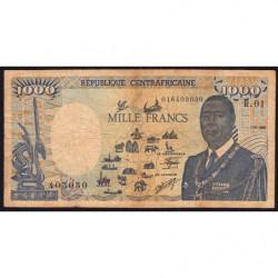 Centrafrique - Pick 15 - 1'000 francs - Série R.01 - 01/01/1985 - Etat : B+