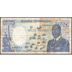 Centrafrique - Pick 16_5 - 1'000 francs - 01/01/1990 - Etat : TB-