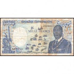 Centrafrique - Pick 16_5 - 1'000 francs - Série A.10 - 01/01/1990 - Etat : TB-