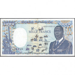 Centrafrique - Pick 16_5 - 1'000 francs - 01/01/1990 - Etat : TTB
