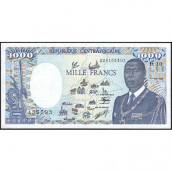 Centrafrique - Pick 16_5 - 1'000 francs - 01/01/1990 - Etat : SPL