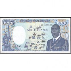 Centrafrique - Pick 16_5 - 1'000 francs - Série D.10 - 01/01/1990 - Etat : SPL