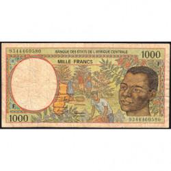 Centrafrique - Afr. Centrale - Pick 302Fa - 1'000 francs - 1993 - Etat : B+