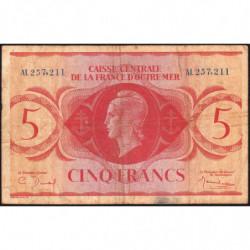 AEF - Pick 15a - 5 francs France Outre-Mer- 02/02/1944 - Série AL - Etat : TB-