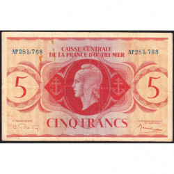 AEF - Pick 15b - 5 francs France Outre-Mer- 02/02/1944 - Rarissime série AP - Etat : TTB-