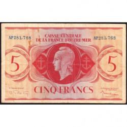 AEF - Pick 15b - 5 francs France Outre-Mer- Rarissime série AP - 02/02/1944 - Etat : TTB-