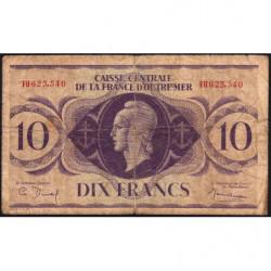 AEF - Pick 16a - 10 francs France Outre-Mer - Rarissime série FH - 02/02/1944 - Etat : B