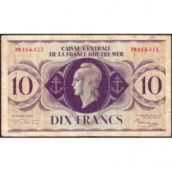 AEF - Pick 16b - 10 francs France Outre-Mer - Rarissime série FM - 02/02/1944 - Etat : TB+