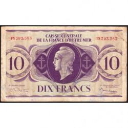 AEF - Pick 16b - 10 francs France Outre-Mer - 02/02/1944 - Rarissime série FN - Etat : TTB-