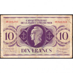 AEF - Pick 16b - 10 francs France Outre-Mer - Rarissime série FN - 02/02/1944 - Etat : TTB-