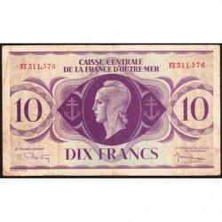 AEF - Pick 16b - 10 francs France Outre-Mer - 02/02/1944 - Rarissime série FZ - Etat : TB+