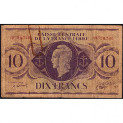 AEF - Pick 11a - 10 francs France Libre - 02/12/1941 - Série FB - Etat : B-
