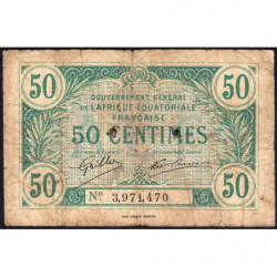 AEF - Pick 1a_3 - 50 centimes - 1917 - Etat : B