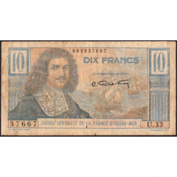 AEF - Pick 21 - 10 francs - France Outre-Mer - Série U.33 - 1947 - Etat : TB-
