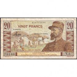 AEF - Pick 22 - 20 francs - France Outre-Mer - Série U.7 - 1947 - Etat : B+