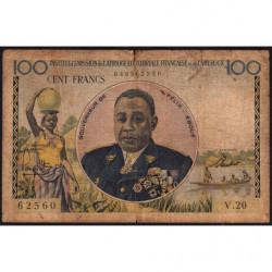AEF - Pick 32 - 100 francs - 1957 - Etat : AB