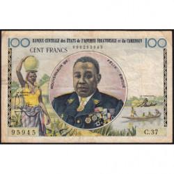 Etats de l'Afrique Equatoriale - Pick 1f - 100 francs - Série C.37 - 1961 - Etat : TB