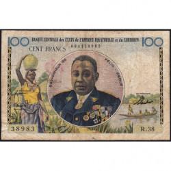 Etats de l'Afrique Equatoriale - Pick 1f - 100 francs - Série R.38 - 1961 - Etat : TB-