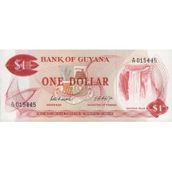 Guyana - Pick 21d - 1 dollar - 1976 - Série A - Etat : NEUF