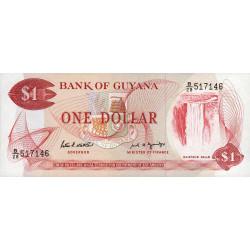 Guyana - Pick 21f - 1 dollar - 1989 - Série B - Etat : NEUF