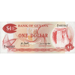 Guyana - Pick 21g_1 - 1 dollar - 1992 - Série B - Etat : NEUF